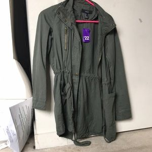 forever 21 green outerwear